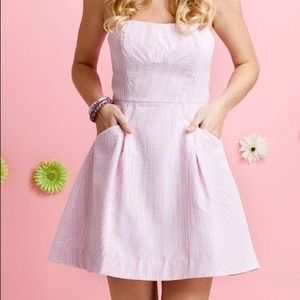 Lily Pulitzer Blossom Seersucker Dress Pink